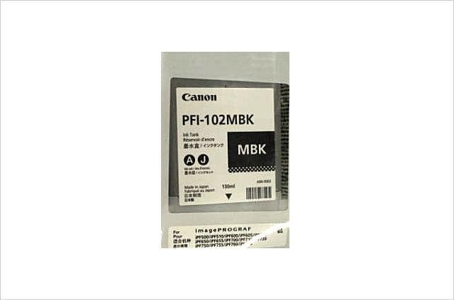 純正インクタンク マットブラック PFI-102MBK 0894B001