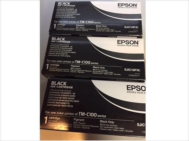 24.エプソンTM-C100モノクロモデル専用インクカートリッジ SJIC10PK