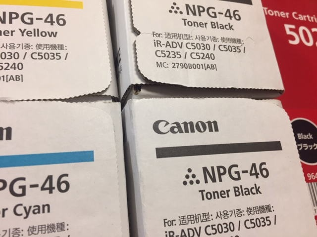 28.NPG-46,502トナー キャノン